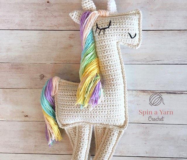 Lelia ragdoll unicorn by spinayarncrochet