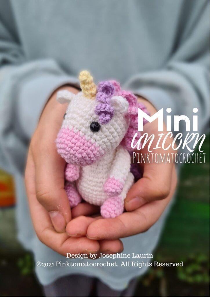 Lelia Mini Unicorn by Pinktomatocrochet