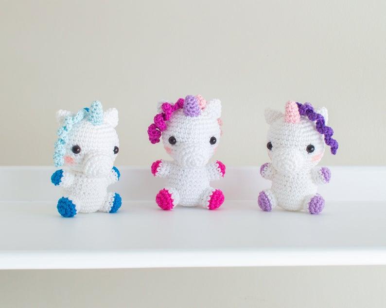 Lelia Unicorn - Baby by BunniesandYarn